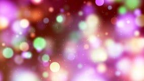 Fond de HD Loopable avec le bokeh multicolore gentil illustration stock