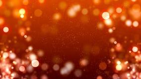 Fond de HD Loopable avec le bokeh orange gentil illustration de vecteur