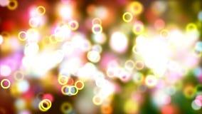 Fond de HD Loopable avec le bokeh rougeoyant abstrait gentil illustration de vecteur