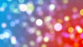Fond de HD Loopable avec le bokeh rougeoyant gentil illustration libre de droits