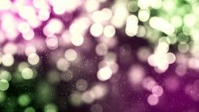 Fond de HD Loopable avec le bokeh rougeoyant gentil illustration stock