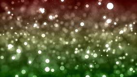 Fond de HD Loopable avec le bokeh vert rouge rougeoyant gentil illustration de vecteur