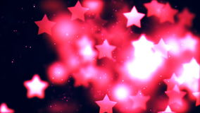 Fond de HD Loopable avec les étoiles gentilles de vol illustration libre de droits
