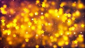 Fond de HD Loopable avec les étoiles gentilles de vol illustration de vecteur