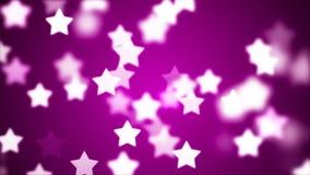 Fond de HD Loopable avec les étoiles gentilles de vol illustration stock