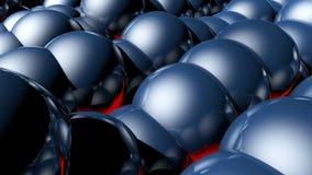 Fond de HD Loopable avec les boules abstraites gentilles illustration stock
