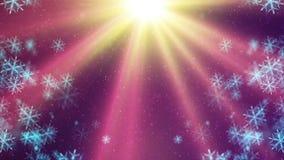 Fond de HD Loopable avec les flocons de neige en baisse gentils illustration stock