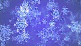 Fond de HD Loopable avec les flocons de neige en baisse gentils illustration de vecteur