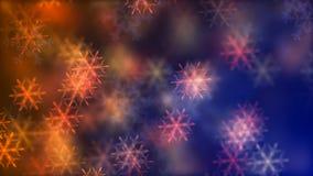 Fond de HD Loopable avec les flocons de neige en baisse gentils illustration libre de droits