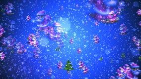 Fond de HD Loopable avec Noël gentil de résumé illustration de vecteur