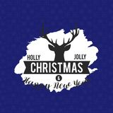 Fond de Holly Jolly Christmas Reindeer illustration de vecteur