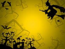 Fond de jaune de Halloween pour des cartes postales Photos libres de droits