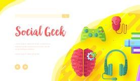Fond de jeu vidéo avec le joypad, écouteurs images stock