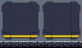 Fond de jeu vidéo de hangar de l'espace