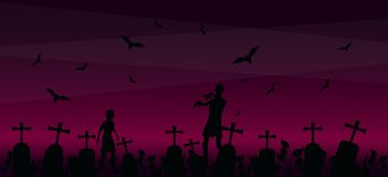 Fond de jeu de zombi illustration libre de droits