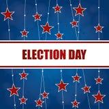 Fond de jour d'élection Photos stock