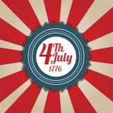 Fond de Jour de la Déclaration d'Indépendance Photo stock