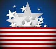 Fond de Jour de la Déclaration d'Indépendance de vecteur Image libre de droits