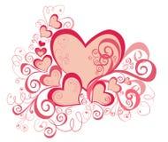 Fond de jour de Valentines avec des coeurs Photos libres de droits