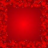 Fond de jour de valentines avec des coeurs Image stock