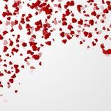 Fond de jour de valentines avec des coeurs Images stock