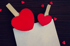 Fond de jour de Valentines avec des coeurs Images libres de droits