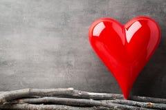 Fond de jour de Valentines avec des coeurs Photo libre de droits