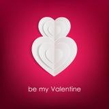 Fond de jour de valentines avec des coeurs de livre blanc Image libre de droits