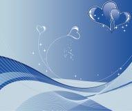 Fond de jour de Valentines avec la configuration d'onde de coeurs Photographie stock