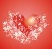 Fond de jour de Valentines avec le coeur Photographie stock libre de droits