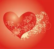 Fond de jour de Valentines avec le coeur Images stock