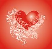Fond de jour de Valentines avec le coeur Photos stock