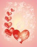 Fond de jour de Valentines avec le coeur Photographie stock