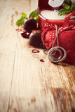 Fond de jour de Valentines avec le coeur Images libres de droits