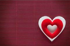 Fond de jour de Valentines avec le coeur Image stock