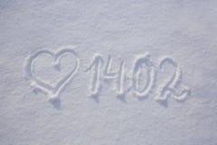 Fond de jour de Valentines avec le coeur Photos libres de droits