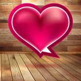 Fond de jour de valentines avec le coeur. ENV 10 Photographie stock