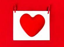 Fond de jour de valentines avec le copyspace pour le texte de salutation. Rouge Photos stock