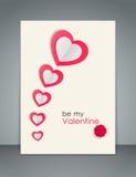 Fond de jour de valentines avec les coeurs de papier Photos libres de droits