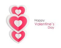 Fond de jour de valentines avec les coeurs de papier Photos stock