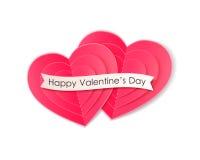 Fond de jour de valentines avec les coeurs de papier Images stock