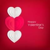 Fond de jour de valentines avec les coeurs de papier Image stock