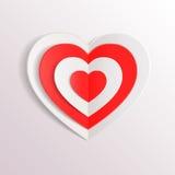 Fond de jour de valentines avec les coeurs de papier et Image stock