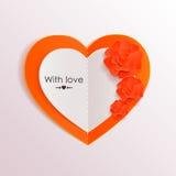 Fond de jour de valentines avec les coeurs de papier et Photo stock