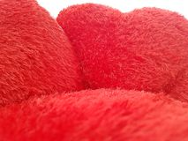 Fond de jour de valentines avec les coeurs rouges sur le fond blanc Image stock