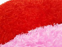 Fond de jour de valentines avec les coeurs rouges sur le fond blanc Images stock
