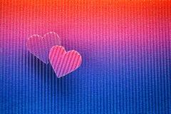 Fond de jour de valentines, coeur deux de papier Photos libres de droits