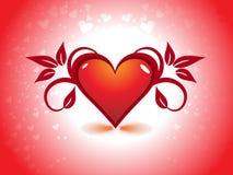 Fond de jour de Valentines de coeur illustration de vecteur