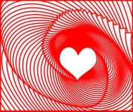 Fond de jour de valentines de vecteur avec le coeur Image stock
