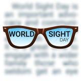 Fond de jour de vue du monde Cécité de combat, cataracte, glaucome, affaiblissement de vision Concept de santé d'oeil Images stock
